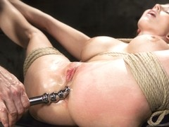 Christie Stevens in Curvy Big Tits Blonde Bombshell Bound And Molested - HogTied