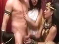 Fetish Cunts In Dress Costume Have Some Fun With Random Guy