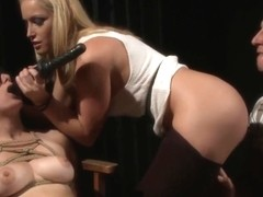 Blindfolded Sub Toyed With In A Threesome