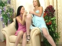 LickNylons Clip: Stephana and Diana