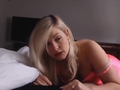 Sexy amateur MILF sucks my cock and gets cum in mouth