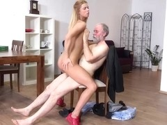 Fresh blonde college girl, Chrissy Fox is earning her college money while having sex sessions