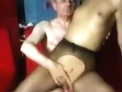 Sweet Blond Teen In Fishnets Fucks A Nasty Old Man