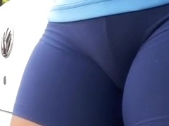 Great up close shot on girl's cameltoe