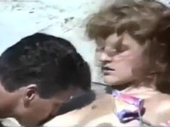 Hot passionate couple make love on the beach