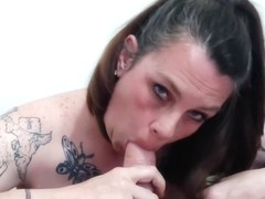 Sexy Collared Milf gives Erotic Smoking POV Blow Job