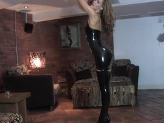 Emma-Kate in Trans Black Dress and Stockings - LatexHeavenVideo