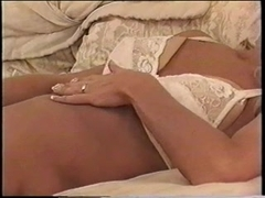 Cute guy fucks milf blonde after rimming