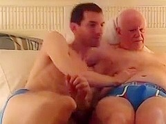 OLD BALD HAIRY MAN N MATURE GUY FUN B4 BED