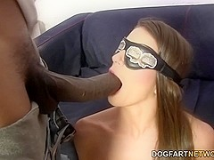 Brooklyn Chase's First Interracial Gangbang
