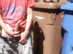 Outdoor wank in front of the street at the sight of everyone #4