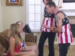 Blair Williams Working Out On Papas Matured Cock