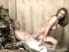 Juvenile russian escort woman satisfies slutty aged mate looking for fresh pussy