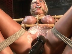 Skylar Price in Skylar Price: Blond Bombshell Bamboo Bound  - HogTied