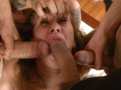 Take Down Challenge Russian Cutie Takes Two Dicks In Her Ass - HardcoreGangbang