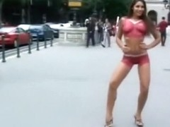 Zafira - Body Painted Nude & Walked in Public Part 2