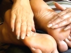 long nails tickle shoeplaylady anja wrinkled soles