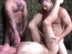 ActiveDuty Straight Soldiers Jerking & Bareback 4 Sergeant