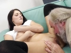 Katy Rose has a kink on elderly men and enjoys fucking them all the time