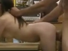Babe pawns her BFs stuff and gets fucked by nasty pawn guy