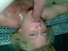 Horny wife deepthroating her husband