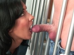 Prisoner gets to fuck a smoking babe