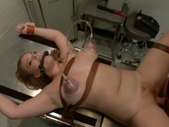 doc shows hot redhead what she and her big tits are good for