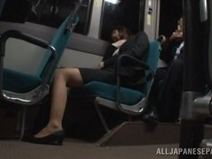 Momo Ogura hot Asian milf gets fucked on the bus