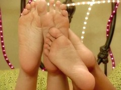 Girls Night In First Time Lesbian Foot Fucking