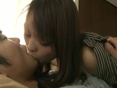 Hot mature Japanese AV Model is a busty babe getting creampied