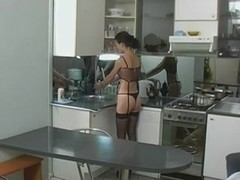 girl dped in the kitchen