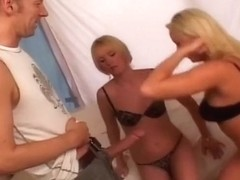 Blondes Heat Things Up On Cock Together