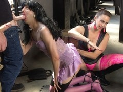 Bella Rossi & Jay Wimp in Feminized, Pimped Out, And Made To Suck Cock With Extreme Ball Busting -.