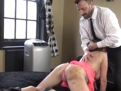 Riding and throating sub gets ass whipped