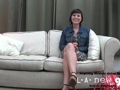 BRUNETTE FUCKED IN THE ASS AT INTERVIEW CASTING