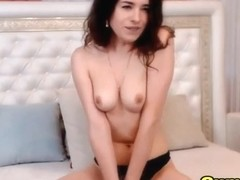 Skinny Chick Fucks Her Tight Hole