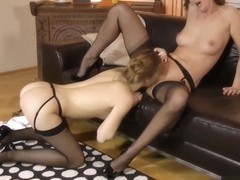 Lara Latex and Alexis Crystal indulge on some delicious vag