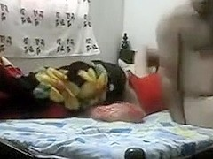 Hot dressed  immature angel screwed on bed