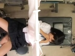 Teen gal from Japan got her slit fingered at a clinic