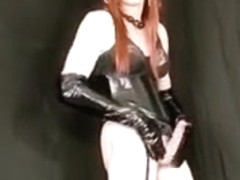 Horny homemade shemale video with Redhead, Stockings scenes