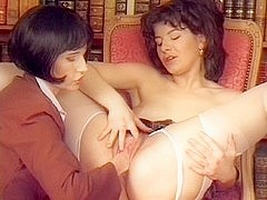 Hot and deep fisting action with 2 sexy MILF lesbians