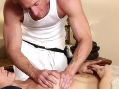 Gorgeous massage amateur facefucked after bj