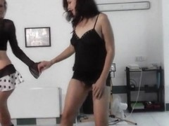 Lapdance show by naughty czech ladies