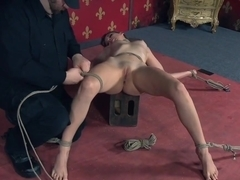 Dominated sub pussy toyed by Dom until orgasm