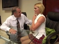Dirty mingle in the office scene