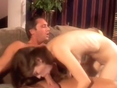 Enticing young stud is shoving his pickle into tight vaginal orifice
