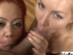 Mia Lelani Lisa Demarco in Pov Double Blow Job On A Big Spanish Dong - MiaLelani