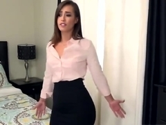 Tanned Slim Brunette Girl Real Massive Orgasm Experience