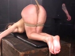 Restrained Bdsm Babe Flogged By Maledom