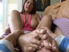 Footsie babe Candi Coxs can satisfy any hard cock!